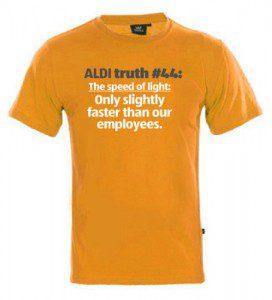 Brands we love: ALDI t-shirt