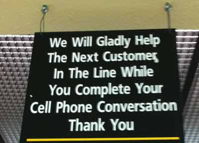 bad cell phone sign