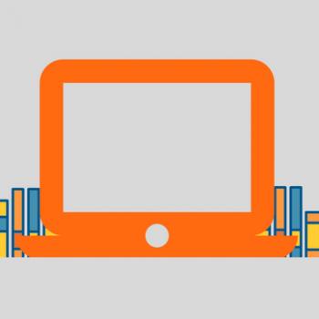 Orange Laptop Screen